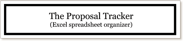 The Proposal Tracker (Excel spreadsheet organizer)